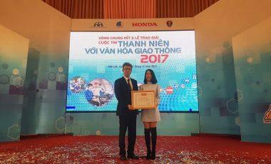 Honda Vũ Hoàng Lê dẫn đầu trong công tác tuyên truyền ATGT cho đối tượng đoàn viên, thanh niên